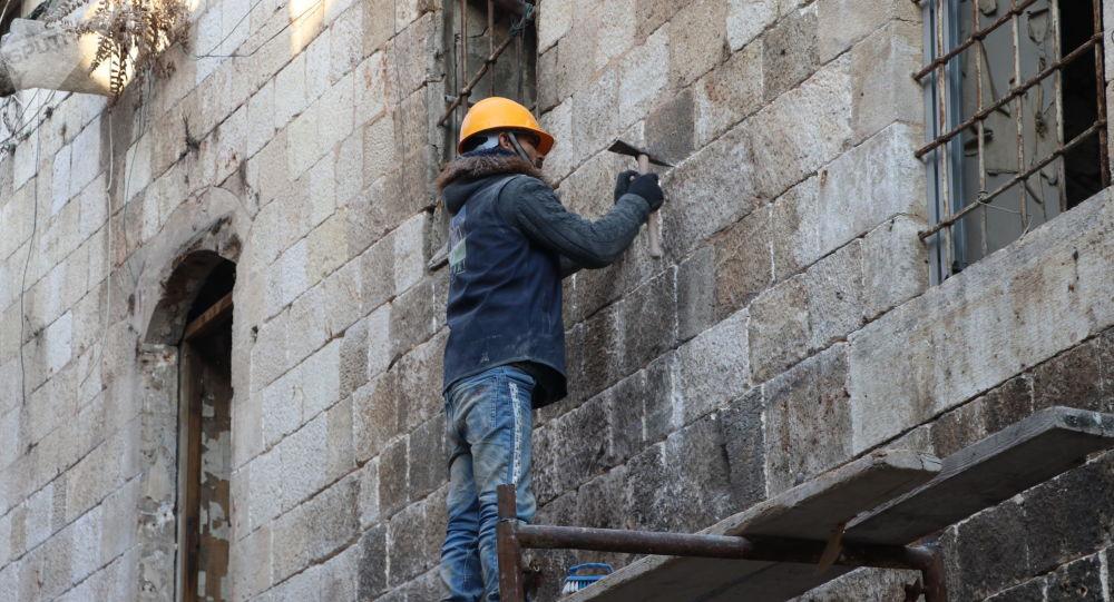 ترميم سوق الحرير في مدينة حلب القديمة، سوريا