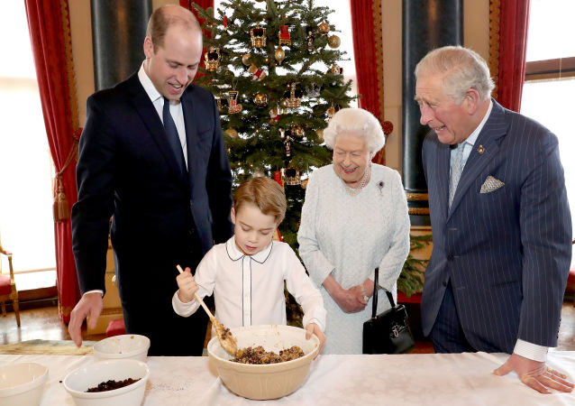 العائلة المالكة تصنع حلوى البودينغ
