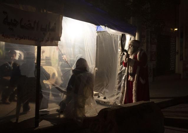 احتجاجات مناهضة للحكومة اللبنانية في بيروت، لبنان 21 ديسمبر 2019