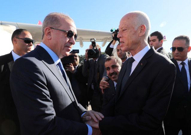 الرئيس التركي رجب طيب أردوغان والرئيس التونسي قيس سعيد
