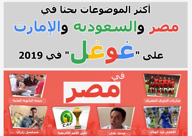 أكثر الموضوعات بحثا على محرك غوغل خلال 2019 في مصر والسعودية والإمارات