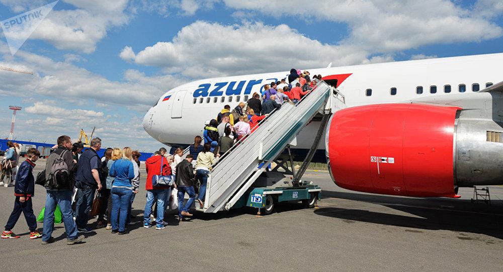 طائرة تابعة لشركة Azur air