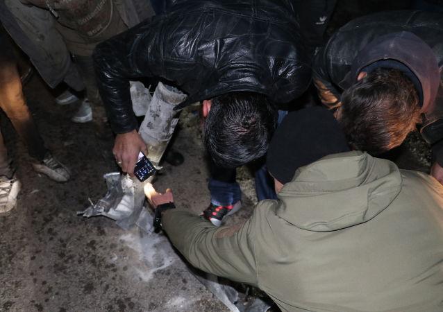 قصف في حلب، سوريا