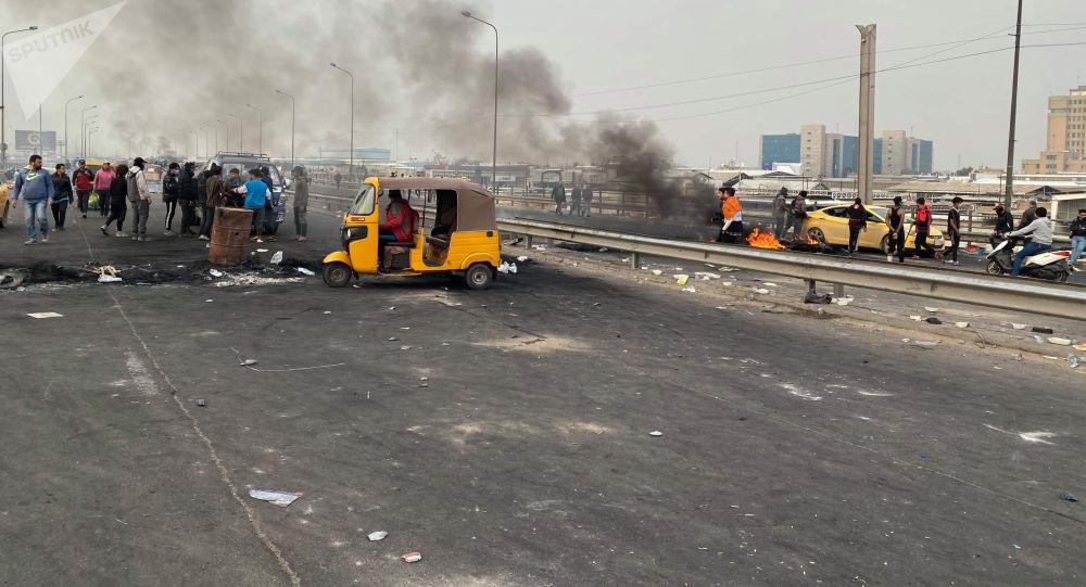 حصيلة قتلى وجرحى بين المحتجين في سريع بغداد محمد القاسم إثر الرصاص