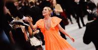 الممثلة الأمريكية كاثرين نيوتين خلال حفل توزيع جوائز Screen ActorsGuild Awards في لوس أنجلوس، 19 يناير 2020
