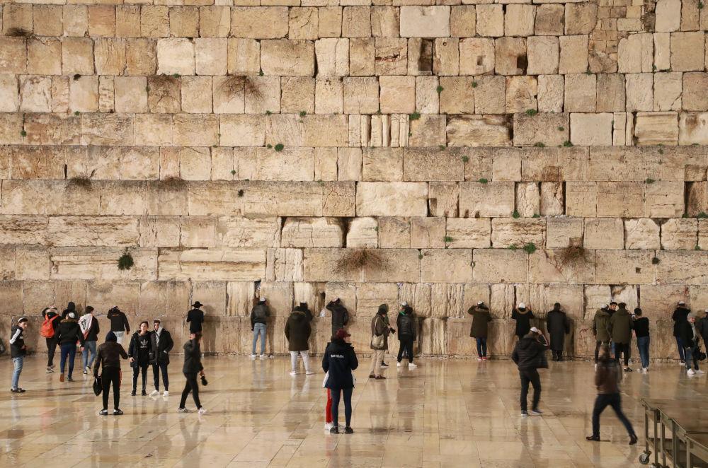 حائط البراق (المبكى)، القدس القديمة، 20 يناير 2020