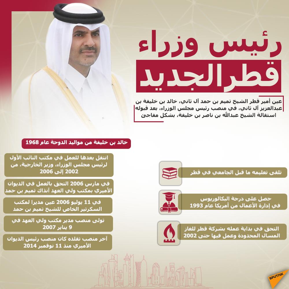 إنفوجرافيك رئيس وزراء قطر الجديد