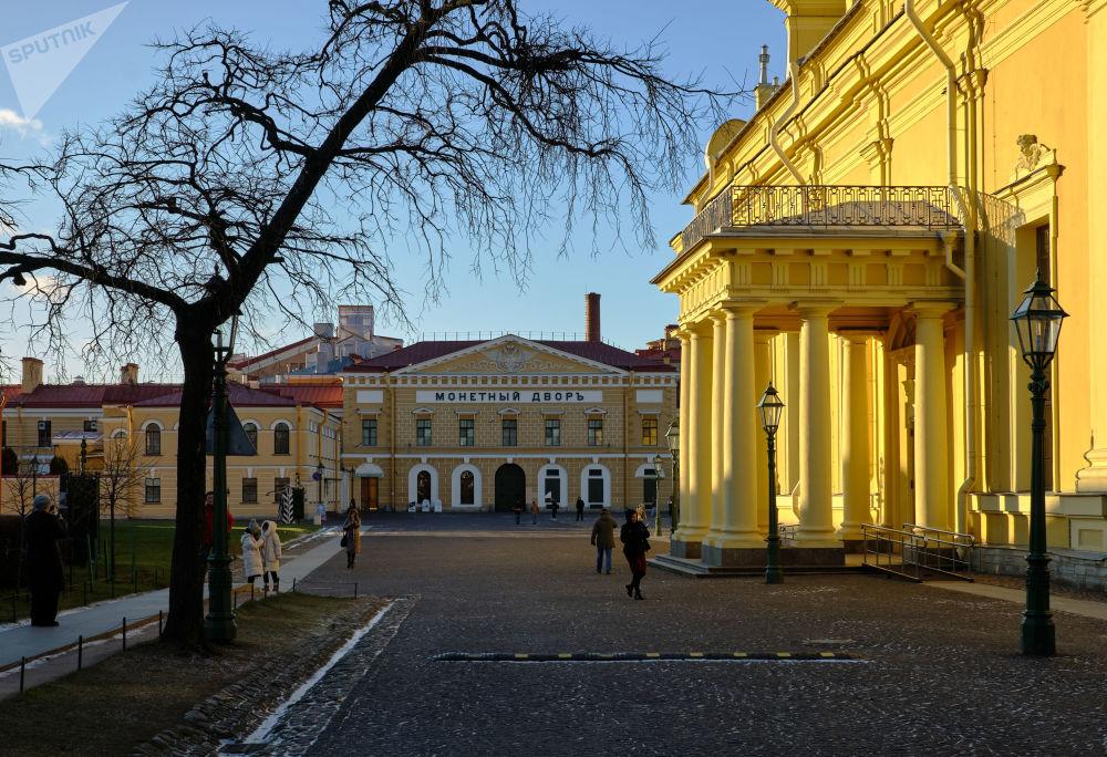 دار سك العملة على أراضي قلعة بطرس وبولس في مدينة سان بطرسبورغ