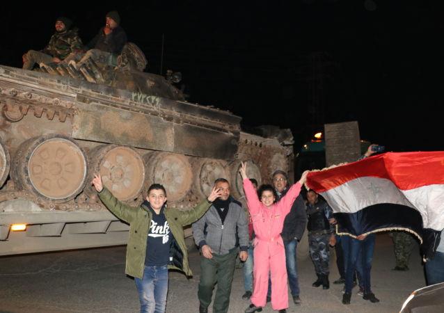 احتفالات السوريين في حلب